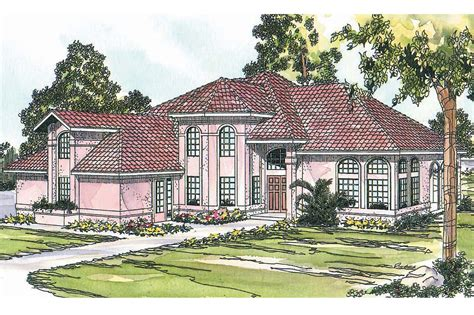 Spanish Style House Plans by Spanish Style House Plans Stanfield 11 084 Associated