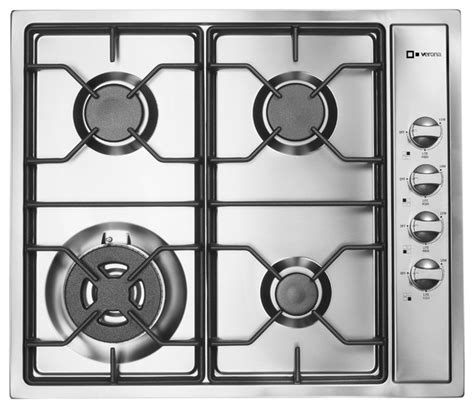 24 In Gas Cooktop - verona 24 inch gas cooktop transitional cooktops new