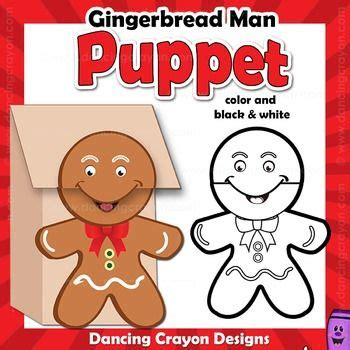 Printable Gingerbread Man Paper Bag Puppet | the 25 best ideas about gingerbread man template on