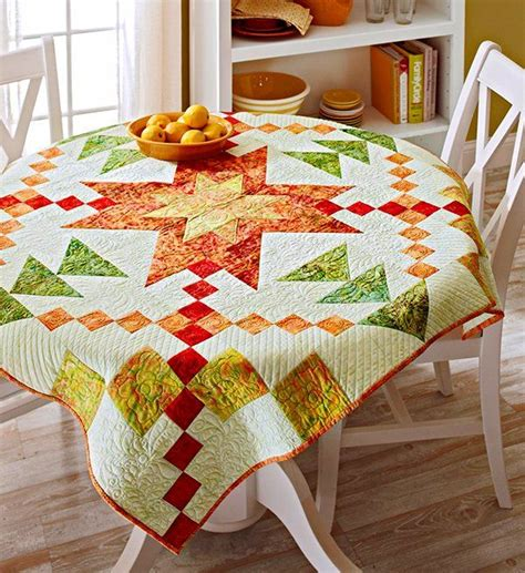 quilted tablecloth table linens 13 best images about quilts as tablecloths on pinterest