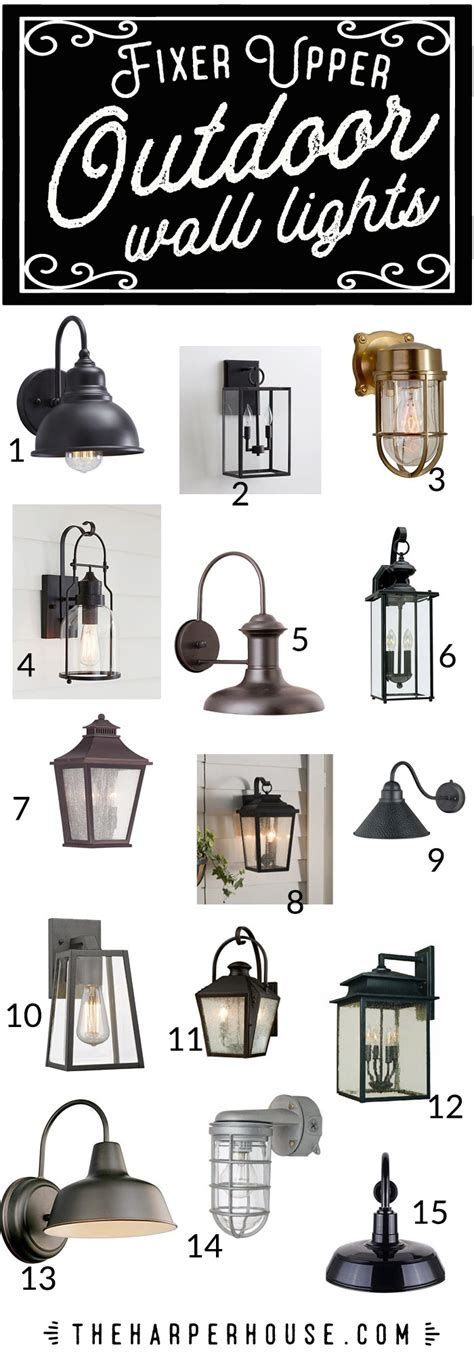 fixer outdoor lighting outdoor wall lights fixer style the house