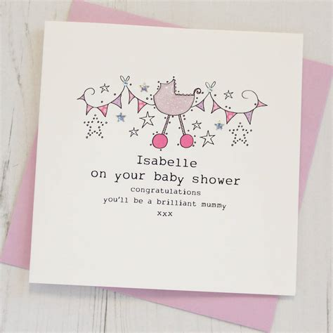 how to make baby shower cards personalised baby shower card by eggbert