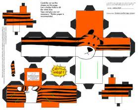 3d model templates free 7 best images of printable tiger crafts printable tiger