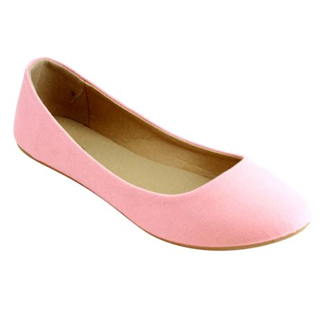 Flat Shoes Ambassador Pink refresh s comfort easy slip on ballet flats demi 10 ww black blue blush ebay