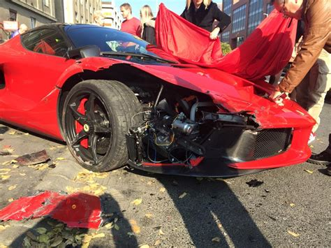 laferrari crash a laferrari in budapest crashes bhp cars