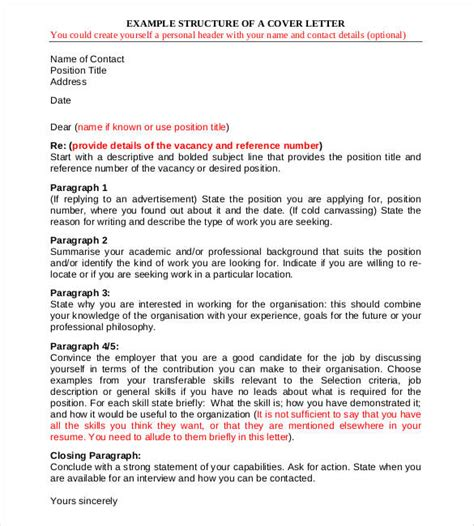structure of a covering letter cover letter structure pertamini co