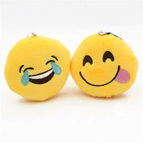 yellow soft christmas gift new soft emoji smiley emoticon pendant yellow plush doll ornaments gift
