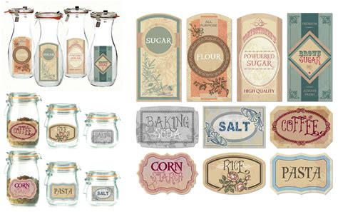Old Fashioned Kitchen Canisters 10 best images of antique label templates free vintage