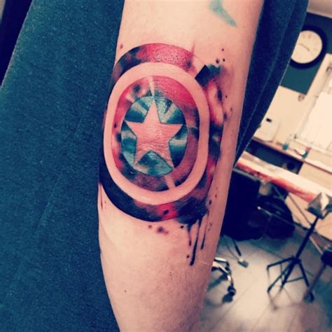 captain america shield tattoo mighty shield best ideas gallery