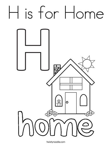 letter h is for house coloring page bulk color letter h is for house alphabet coloring pages printable h is for house alphabet