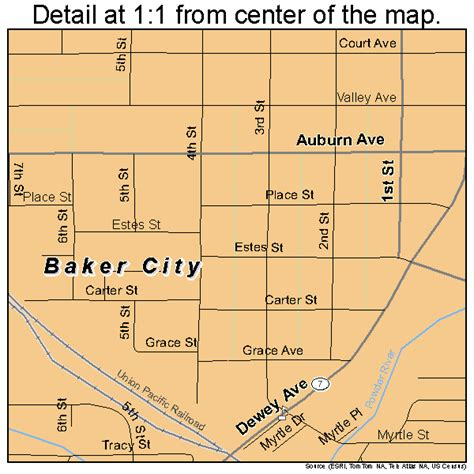 map of oregon baker city baker city oregon map 4103650