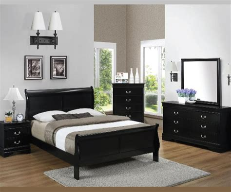 black bedroom suite black louis phillips 4 pieces bedroom suite