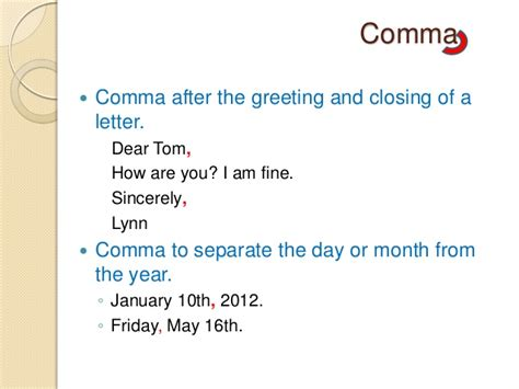 Letter Dear Comma impression in business writing dl