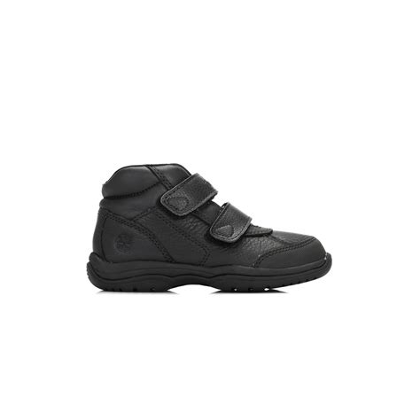 Timberland Leather Unisex timberland unisex toddlers black ankle boots leather hook loop shoes ebay