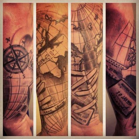 compass tattoo airplane travel tattoo compass plane sts tattoo research