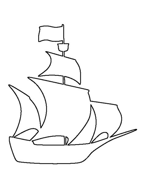 simple boat template pirate ship pattern use the printable outline for crafts