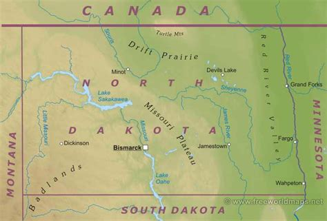 physical map of south dakota dakota quotes quotesgram