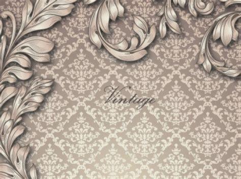 vintage elegant pattern elegant antique pattern with leaves vector free download