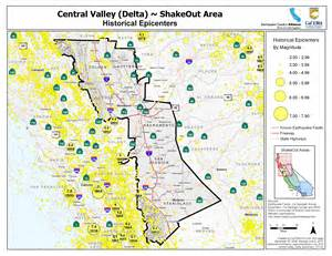 the great california shakeout central valley delta area