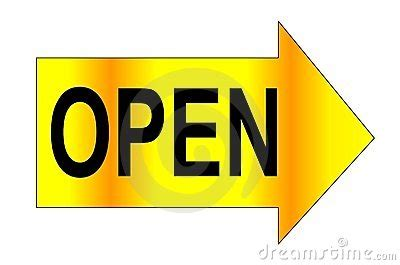 Open Word Open Word Arrow Right Stock Image Image 5035441