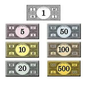 monopoly money games