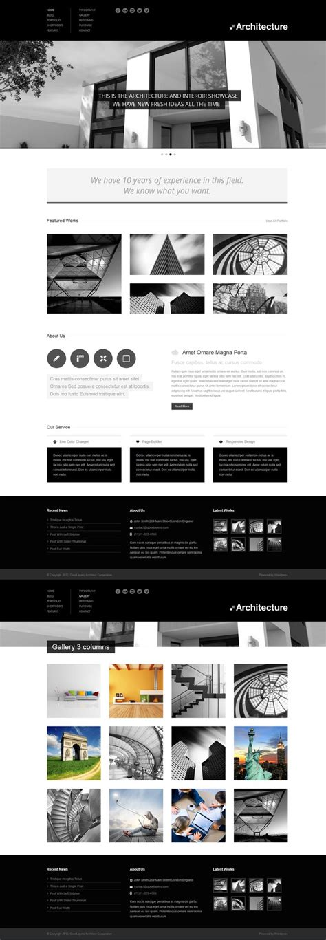 1000 Ideas About Arch Web On Pinterest Website Layout Site Design And Web Layout Fixed Header Website Templates Free