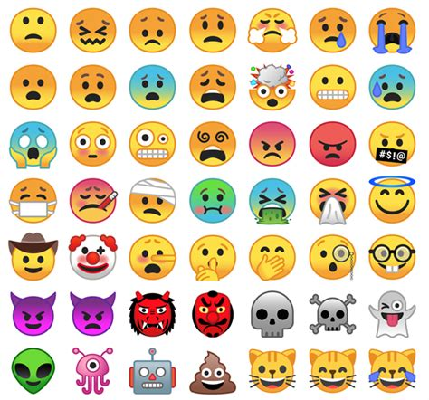 android new emojis these are the new android emojis rip blob tech galleries android o paste