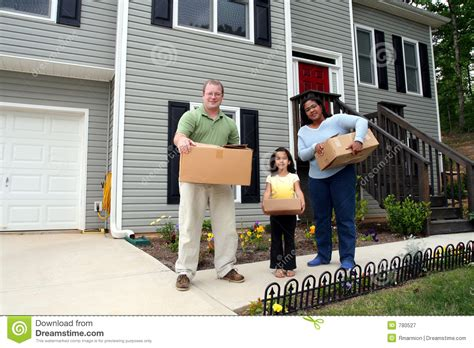 moving into a new house a family moving into new house royalty free stock photography image 780527