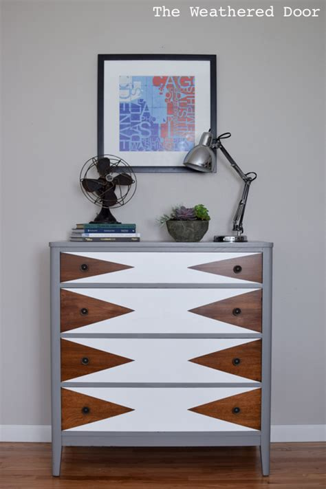 hometalk   modern triangle dresser makeover