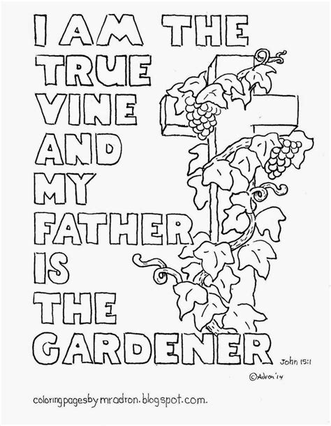 Coloring Page Vine And Branches by I Am The True Vine Coloring Page See More At My