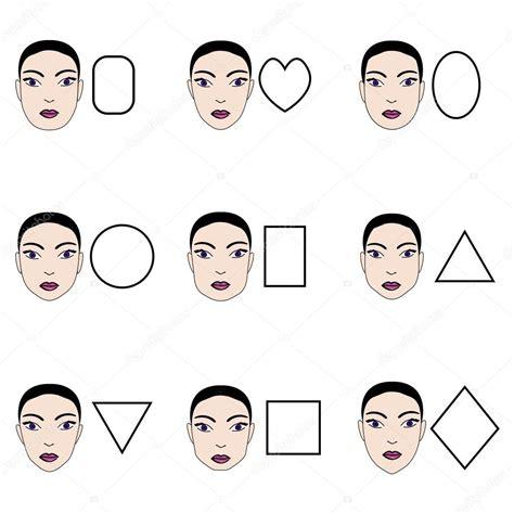 imagenes tipo vector tipos de rostros de mujer vector conjunto de diferentes