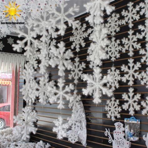 pcs white snowflake christmas ornaments holiday festival
