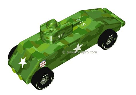 Pinewood Derby Tank Templates by Pinewood Derby Design Tank Car