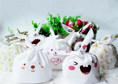 Rabbit Ear Cookie Bag 10pcs rabbit ear cookie bags plastic plastic biscuit packaging bag ᐅ wedding wedding