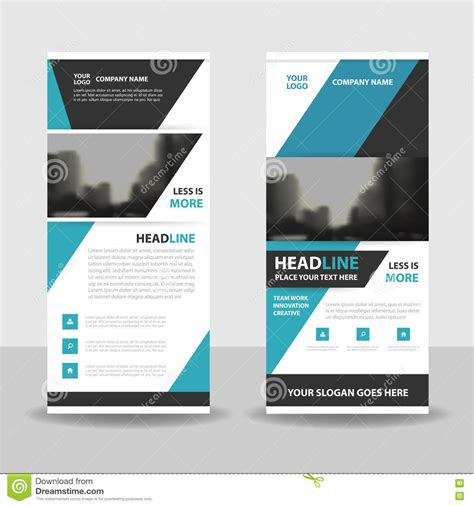 design background x banner blue roll up business brochure flyer banner design cover