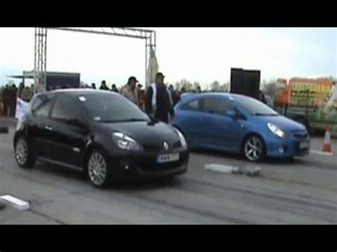 Renault Clio Vs Vauxhall Corsa Opel Corsa Opc Vs Renault Clio Rs Drag Race 1 4 Mile