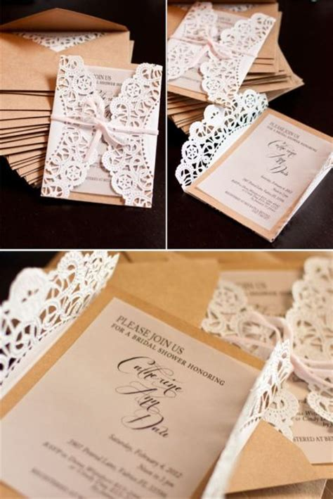 Simple Handmade Wedding Invitations - simple burlap and lace wedding invitations the i do moment