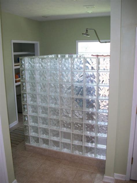 glass block wall for shower glass blocks ideas