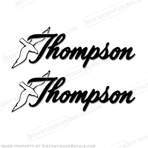 thompson boat logo decals set of 2 any color - Thompson Boat Decals