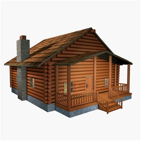 Model Log Cabin by 3d Log Cabin Model