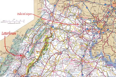 road map of virginia maps