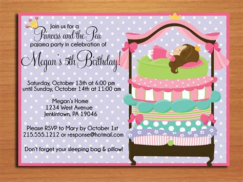 how to make birthday invitation cards at home princess and the pea birthday invitation cards printable