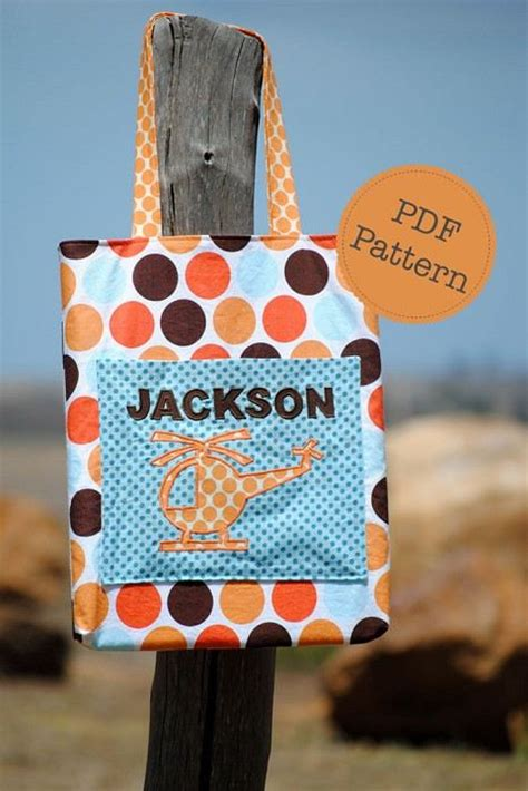 pattern for library book bag library tote bag pattern pdf sewing pattern school