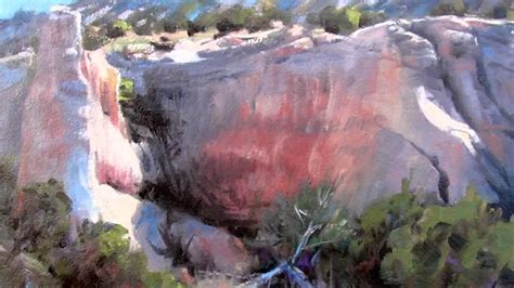 acrylic paint lewis painting rocks cliffs and mesas with michael lewis