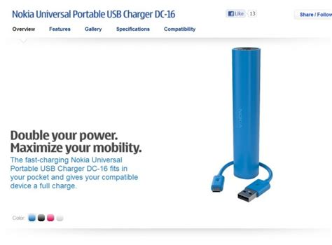 Nokia Universal Portable Usb Charger Dc 16 accessories colourful nokia portable charger sticks