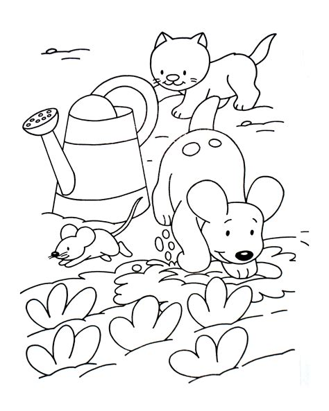 coloring pages cat and mouse dog cat and mouse animals adult coloring pages
