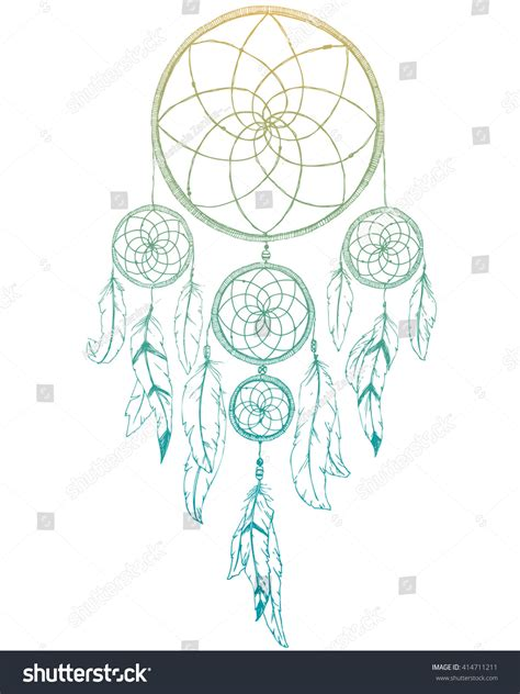 design dream graphic design dream catcher feathers boho stock vector