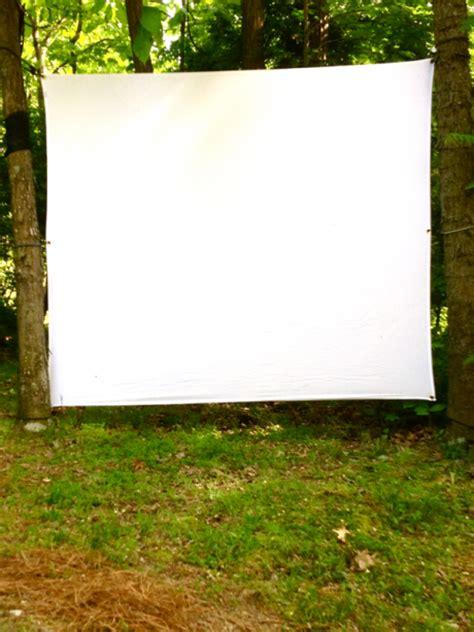 how to make a backyard movie screen diy outdoor movie screen m o d f r u g a l