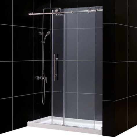 Frameless Shower Door Threshold Enigma X Fully Frameless Sliding Shower Door Slimline Single Threshold Base Modern Showers