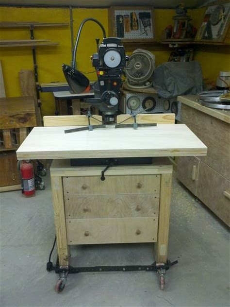 Radial Arm Saw Table by Radial Arm Saw Cabinet Stand And Molding Shaper Fence By